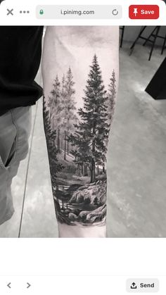 42 ideas for tree tattoo for women arm style - Tattoos For Women Small Unique Forest Tattoo Sleeve, Wolf Tattoo Sleeve, Full Sleeve Tattoos, Sleeve Tattoos For Women, Tattoo Women, Nature Tattoo Sleeve Women, Henna Sleeve, Women Sleeve, Natur Tattoo Arm