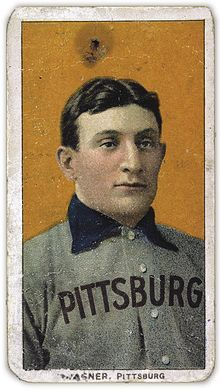The American Tobacco Company's line of baseball cards featured shortstop Honus Wagner of the Pittsburgh Pirates from 1909 to 1911. In 2007, the card shown here sold for $2.8million.