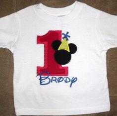 Custom Boutique Mickey Birthday Applique by LollysSewingRoom, $20.00