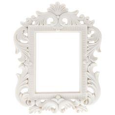 "3"" x 4"" Cream White Open Cut Rectangle Frame"