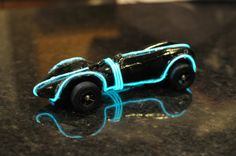 Lights on pine wood derby car, and others designs, click on pin!
