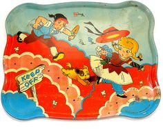 Vintage Ohio Art tin toy tea tray. by AlliesAdornments, via Flickr