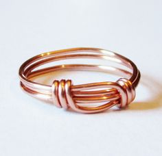 Copper Ring  Wire Wrapped Copper Stacking Ring by DistortedEarth, $10.00