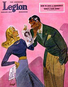 Cover Art Jan 1947 by Earl Oliver Hurst Frederic Remington, Vintage Cartoon, Vintage Art, Cleveland, Vintage Illustration Art, Magazine Art, Magazine Covers, Mid Century Art, Comic Styles