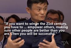 15 of the best quotes from Jack Ma's interview at Davos Quotable Quotes, Wisdom Quotes, Motivational Quotes, Life Quotes, Inspirational Quotes, Corporate Quotes, Business Quotes, Jack Ma Alibaba, Best Entrepreneur Quotes