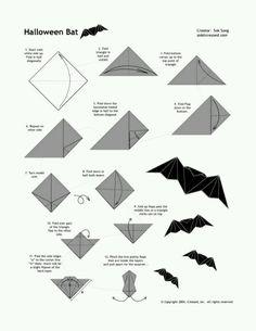 *Broken* How to make an Origami bat (3)