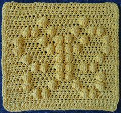 Butterfly Crochet Dishcloth ~ free pattern