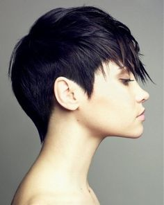 Short, shapely, architectural, but soft. Pixie