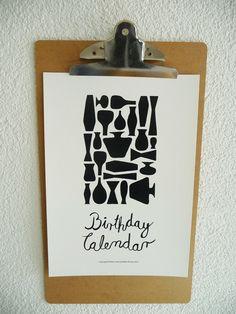 Perpetual Birthday CalendarDIYPrintable PDF door PatternJotsShop