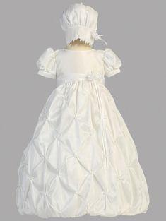4 Pcs Satin Baptism Christening Short Suit Bonnet Infant Baby Boy Size 0-12m 019