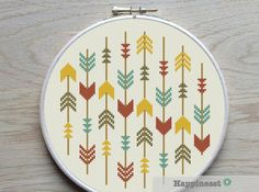 cross stitch pattern arrows arrows aztec PDF pattern par Happinesst