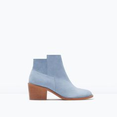 ZARA - SHOES & BAGS - SUEDE COWBOY BOOTS