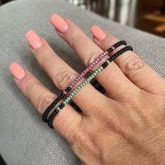 Bold Metallics Individual Beaded Bracelet Stretch Bracelet | Etsy Stack Bracelets, Stackable Bracelets, Stretch Bracelets, Beaded Bracelets, Coral And Gold, Layered Look, Bracelet Set, Seed Beads, Delicate