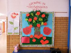 4 Growing Boys: PTA Bulletin Boards; Cute idea and you could keep adding apples as your PTA/PTO grows throughout the year!
