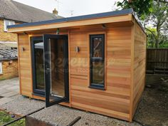 How glorious does our cedar look? This 4 x room with French door and slim window is just the perfect addition to your garden.