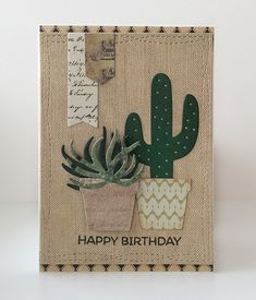Potted Plants Cactus Best Luck Congratulations Birthday Wishes Clear Rubber Stamps and Metal Cutting Dies for Card Making Scrapbooking Christmas Crafts Dies