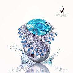 #ring #tourmaline #paraiba #desing #jewellery #jewels #art #arte #exclusive #exclusivo #victorfalcaodesign