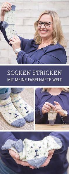 Strickanleitung für Kindersocken mit Bloggerin Meine Fabelhafte Welt, DIYs mit Schachenmayr Regia / knitting tutorial and pattern for cute kid's socks via DaWanda.com