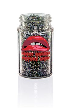 Why Has No One Done This Makeup Collection Before? #refinery29  http://www.refinery29.com/2014/09/73829/rocky-horror-picture-show-mac-makeup-collection#slide7  MAC Glitter in 3D Black, $23, available October 2 at MAC.