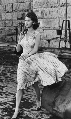 The Divas are taking some style inspiration from Sophia Loren with our Irish Polka collection! Old Hollywood Glamour, Vintage Glamour, Vintage Hollywood, Vintage Beauty, Classic Hollywood, Vintage Fashion, Hollywood Fashion, Divas, Sophia Loren Style