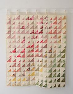 """What a wonderfully simple way to use small-scale prints in a spectrum by color. """"Prism Quilt"""" in Liberty of London"""" Tana Lawn prints by Molly of Purl Soho."""
