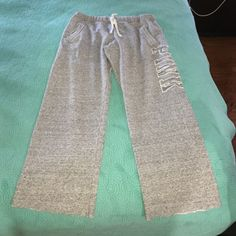 Grey Victoria Secret's Sweatpants Look brand new only worn once ... Too short in length for me that's why I'm selling them ! Victoria's Secret Pants