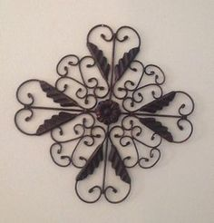 Cast iron wall art | ... ~Black Cast & Wrought Iron Filigree Medallion Wall Art Hanging Decor