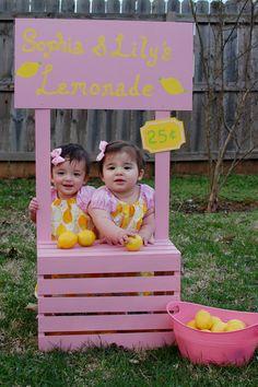 Pink Lemonade Peasant Dress - Baby, Toddler, Girls - Size 3-6 months to 5T - Pink and Yellow - Lemon Print. $28.00, via Etsy.