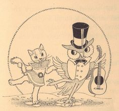 The Owl and the Pussy-cat ill by Marion H. Matchitt | Flickr - Photo Sharing!