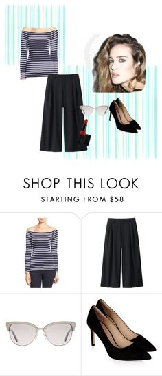 """stripe 7"" by ajriyaf on Polyvore featuring LAmade, Uniqlo, Tom Ford, Monsoon and e.l.f."