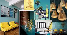 "Carnet de Tendances #2 : Mykonos comme si vous y étiez bit.ly/carnetSL2 ""Inspirations estivales"" Rendered Plans, Mykonos, Material Board, Decoration, Gallery Wall, How To Plan, Interior Design, Luxury, Comme"
