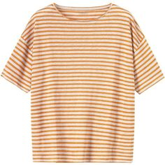 Toast Linen Jersey Tee ($51) ❤ liked on Polyvore featuring tops, t-shirts, shirts, tees, short sleeve shirts, short-sleeve shirt, stripe t shirt, t shirts and jersey tee