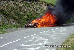Ferrari 458 Italia crashed in Switzerland