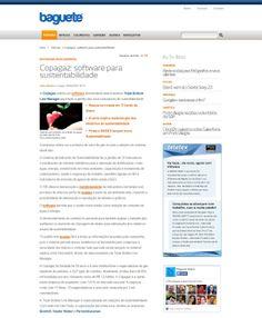 Título: Copagaz: software para sustentabilidade. Veículo: Baguete. Data: 25/04/2014. Cliente: Copagaz.