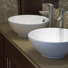 Let's hear it for double sinks -- they make bathrooms so much more functional for busy families!