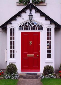 We've been patiently waiting for our red door, white house, Black shudders/trim.  Soon the horizon...