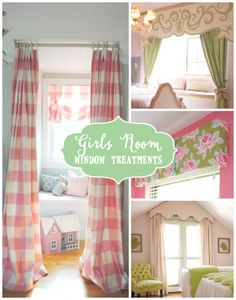 Creative Girls Room Window Treatments - Design Dazzle