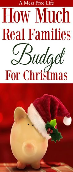 What does a real family budget for Christmas? We have the stats and the advice you need to keep Christmas manageable with a budget plan that will work for your family! #budgeting #giftgiving #gifts #holiday #Christmas
