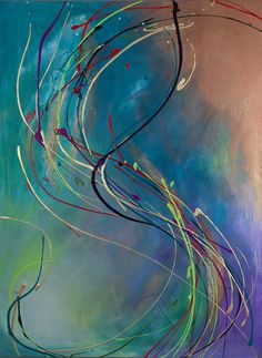 "Aqueous II 30""x40"" By PM Colby $495"