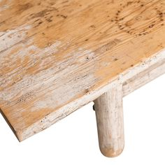 Irvine Coffee Table at Found Vintage Rentals. Rustic wooden coffee table in chippy white paint.