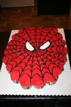 spiderman cupcake cake