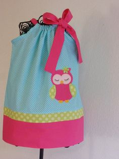 Adorable Owl birthday Pillowcase dress by Just4Princess on Etsy, $28.00