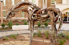 """""""Wind River"""" by Deborah Butterfield, located on the Texas Tech University campus"""