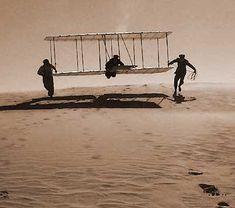 kitty hawk wright brothers first flight - Bing Images Hermanos Wright, Wright Brothers, Kitty Hawk, Crazy Man, Military Humor, India, Gods Grace, Gliders, Wwi
