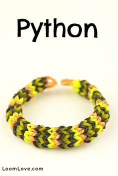 How to Make a Rainbow Loom Python Bracelet #rainbowloom