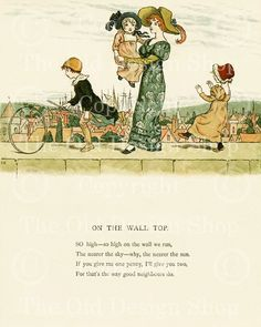 Kate Greenaway - On The Wall Top