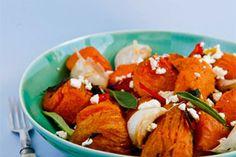 Warm kumara and mussel salad