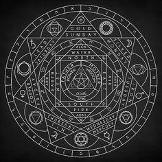 Occult Wall Art - Digital Art - Sacred Geometry by Zapista OU Occult Symbols, Magic Symbols, Occult Art, Ancient Symbols, Illuminati Symbols, Ancient Egypt, Sacred Geometry Symbols, Sacred Geometry Tattoo, Book Of Shadows