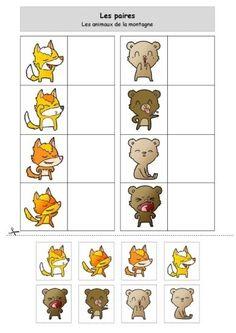 Les paires - Animaux de la montagne - Fiche activité - type association - discrimination visuelle Math For Kids, Activities For Kids, Abc Preschool, Silent Book, Kids Math Worksheets, Asd, Montessori, Education, Comics