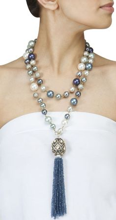 Outstanding Pearl Necklace With Long Chain